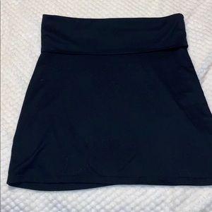 Super Cute Wide Waistband Black Skirt Great Shape!